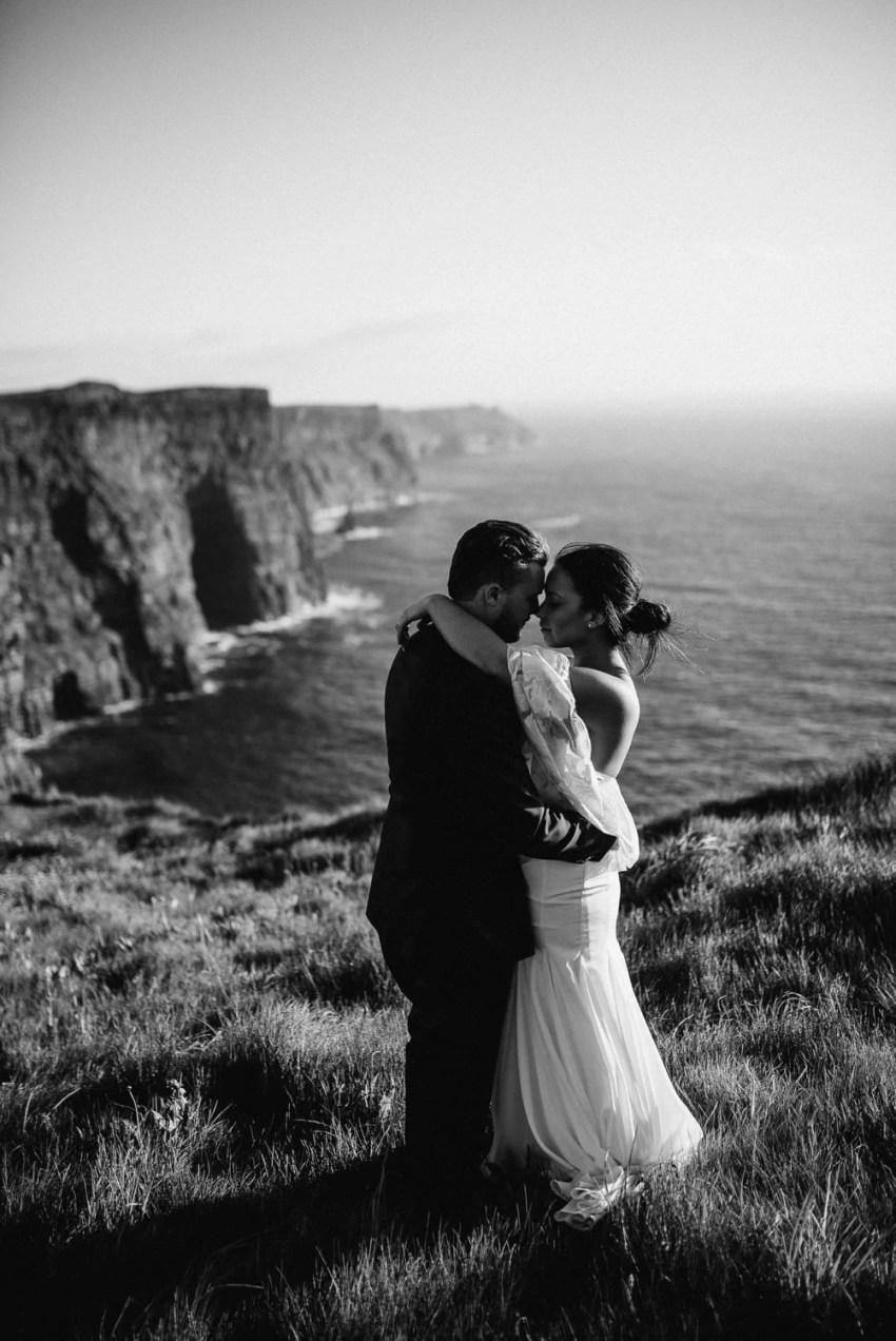 Cliffs Of Moher Elopement Ireland adventure elopements Hags Head