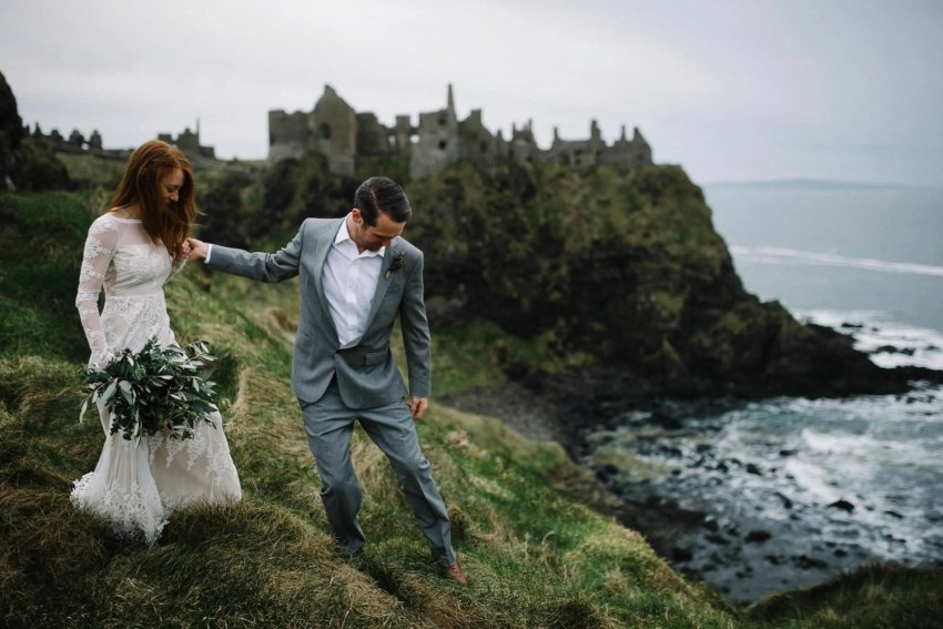 Dunluce Castle elopement wedding photographer Northern Ireland
