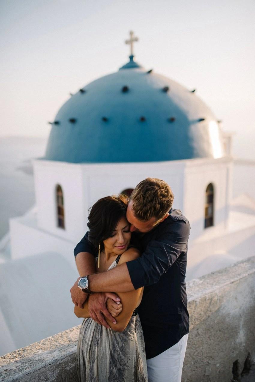 Santorini engagement photography Santorini Destination wedding