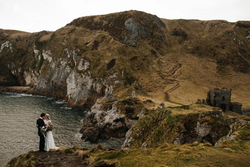 Northern Ireland Adventure elopements kinbane castle