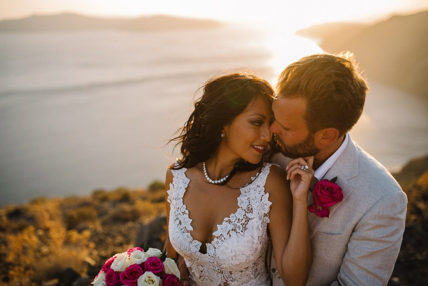 Initimate Santorini Destination wedding -1-4