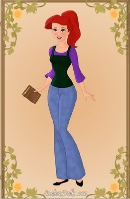"""Ariel"" from ""Modern Disney Girls (high-school)"" by DisneyFreak0010 https://disneyfreak010.deviantart.com/art/Modern-Disney-Girls-high-School-333513869"
