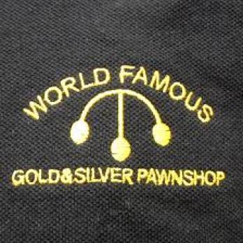 """Logo on the shirts of the company from the show """"Pawn Stars"""""""