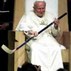 Pope-John-Paul-Hockey