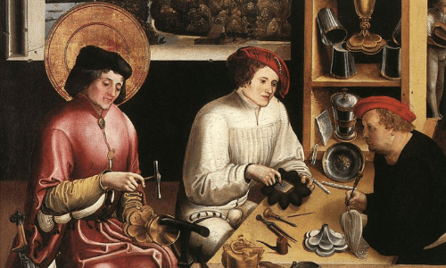 Saint Eligius was incredibly crafty as a metal-smith. It makes sense that you can intercede to him if you work at a...