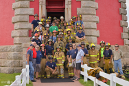 Cape Hatteras Lighthouse, 9/11/15, Local Hero's, Fireman Lighthouse Climb, Never Forget, Hatteras Island Photographers, OBX Photographers, Epic Shutter Photography, Local Kinnakeet Fireman, 911, OBX Photojournalism, OBX ,Outer Banks, North Carolina, Photographer