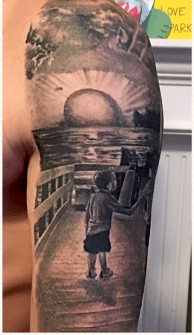 Tattoo, Ocraocke Lighthouse, Ocracoke Island, Inspired Tattoo, McInvale Family, Bob Bitner, Catalyst Arst Collective, Epic Shutter Photography, Outer Banks Photographers, OBX Artist, Hatteras Island Artist, Hatteras Island Photographers