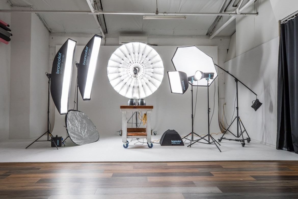 Broncolor studio lighting