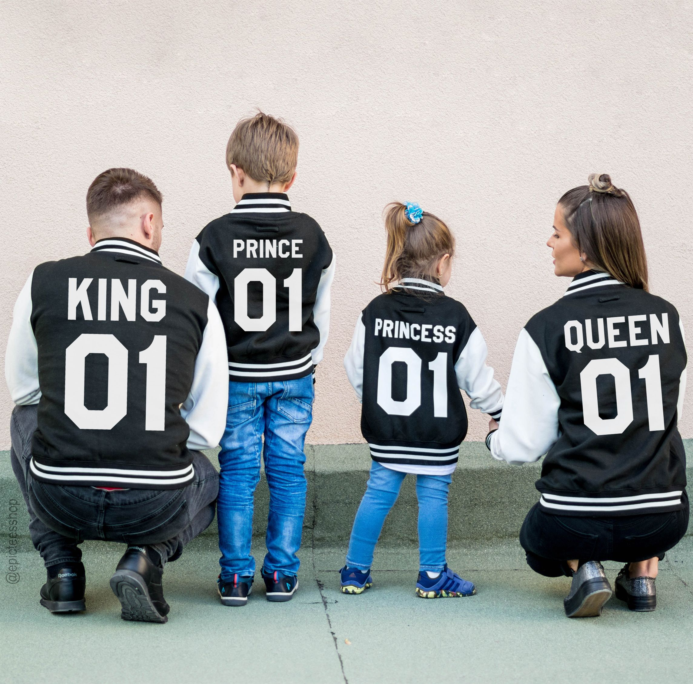Family Varsity Jackets King 01 Queen 01 Prince 01