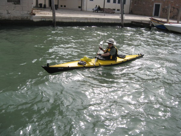 Kayaking the streets of Venice