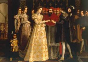 Catherine de' Medici and the Duke of Orléans getting married