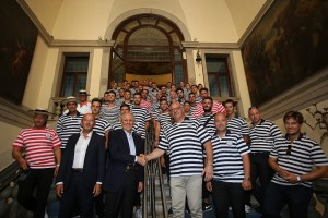 Group photo of the Gondoliers of Venice Association