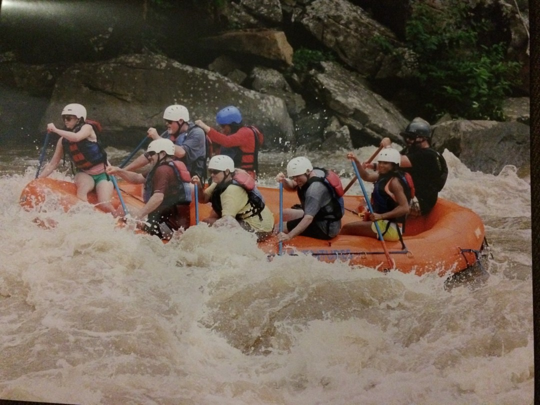 Paddling on Whitewater Rafting at Adventures on the Gorge