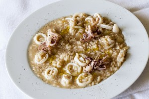Vissani's calamari and potato risotto