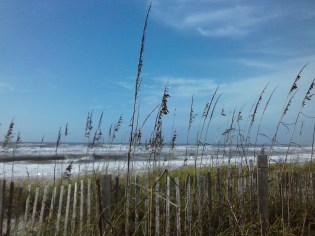 Fence and Sea,Crystal Coast, N.C.