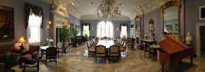 A Panorama of the entire Carriage House dining room.