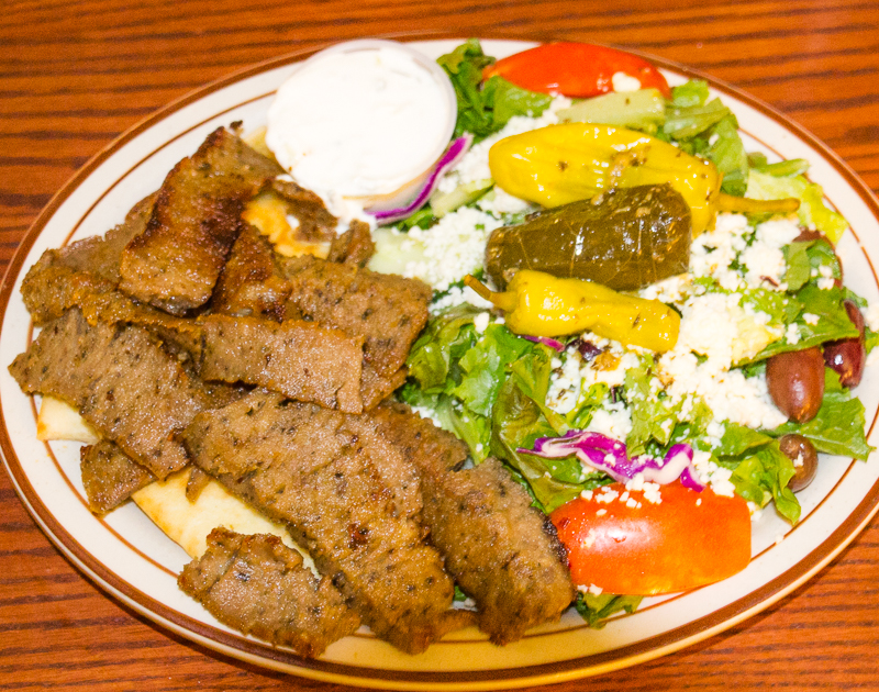 The Athena Restaurant Gyro Platter (©simon@myeclecticimages.com)