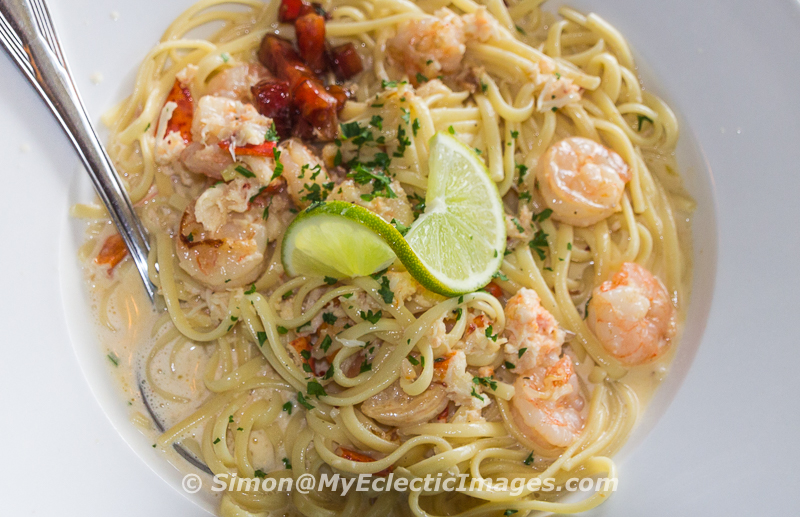 Key Lime Shrimp and Lobster Pasta