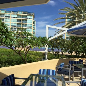 The View Outside the Kitchen Table by White, Blue Residences, Eagle Beach, Aruba