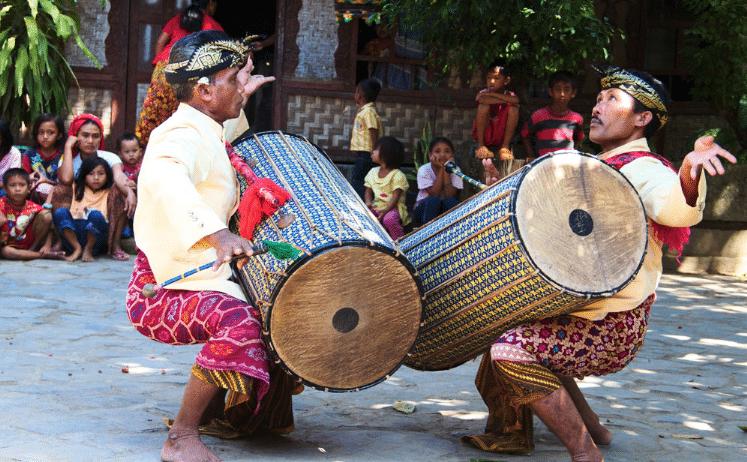 Gendang Beleq Traditional Dance, Bali Indonesia