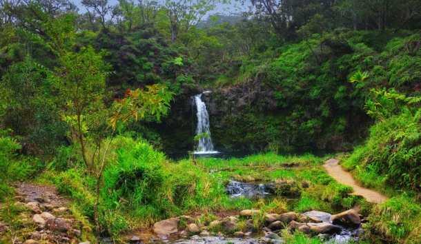 Maui Waterfall, Hawaii.  Photo courtesy of Ladimax Fitness.
