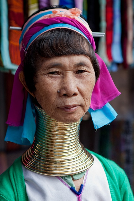 The Br Coils Make Women S Necks Ear Long When In Reality Weight Of