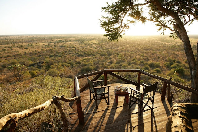 View from Elsa's lodge with Cheli & Peacock