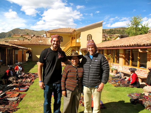 Paragon founders with local Peruvians