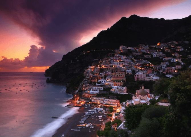 Amalfi Coast at dusk. Photo courtesy of Eric Hossinger.