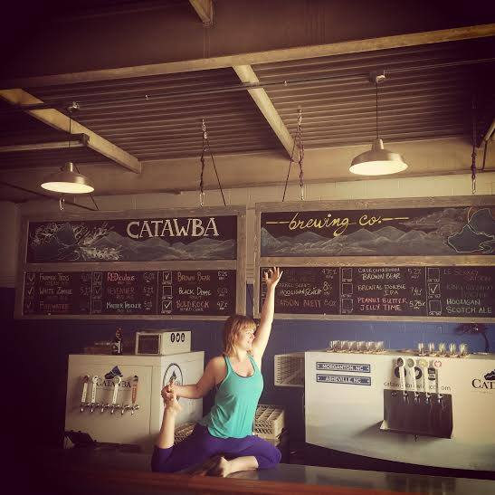 Will bend for beer! Photo courtesy of the Traveling Yogini.
