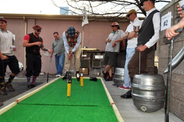 Golfing in Tweed for the Missoula Craft Cup.  Photo courtesy of Alan McCormick.