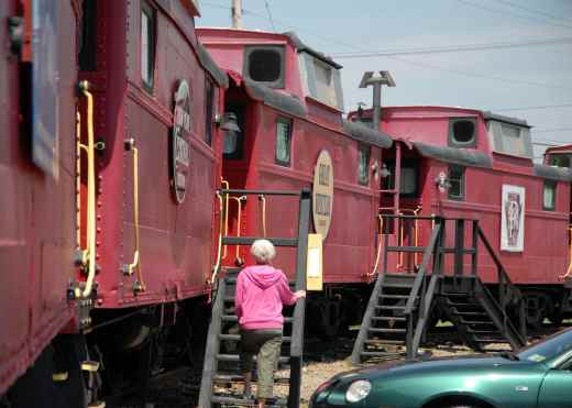 Caboose Motel in Finger Lakes, NY> Photo courtesy of Caboose Motel.