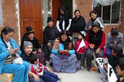 bolivian artisan women with beyondBeanie