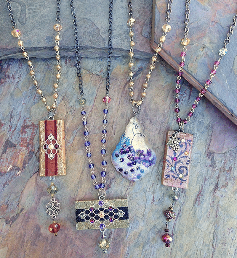 Beaded Chain Necklaces. Photo courtesy of Sparkling Vine Design.