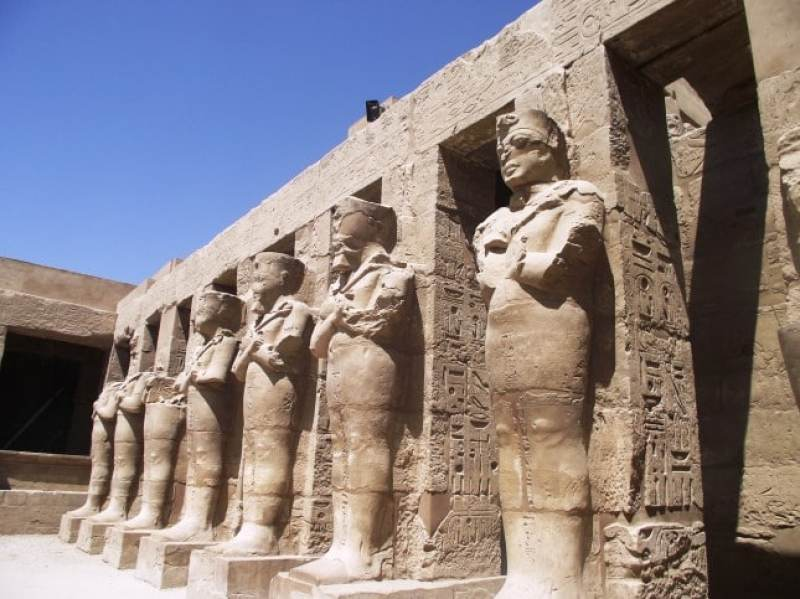 Luxor Temple. an example of Islamic culture