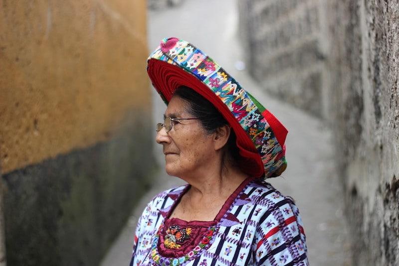 Maya woman Doña Chonita from Santiago, Lake Atitlan