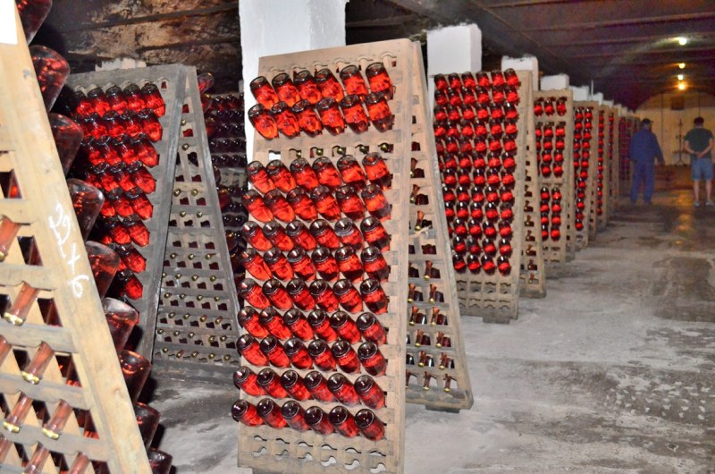 eastern european wine cellar at Cramele Halewood