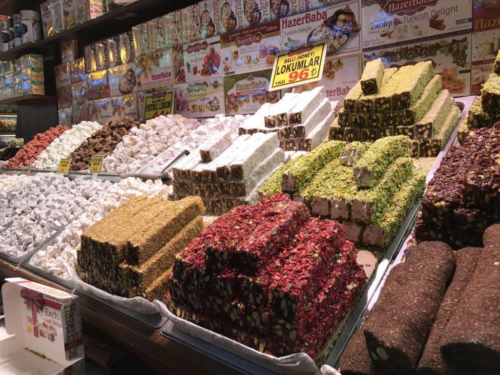Turkish delight food in Turkey