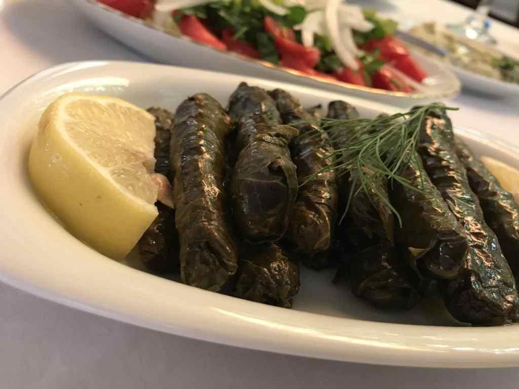 food in Turkey grape leaf dolmas