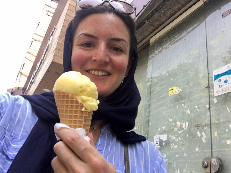 Food in Iran doesn't get much better than saffron ice cream