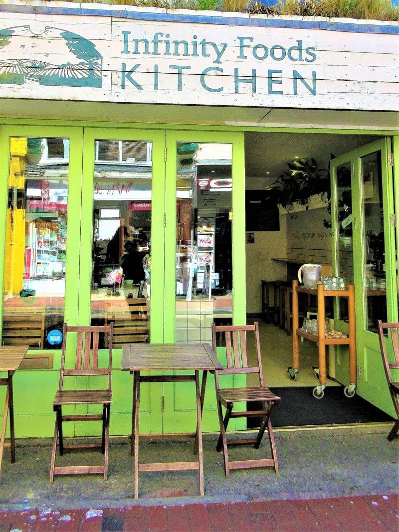 vegetarian restaurant in brighton infinity foods kitchen