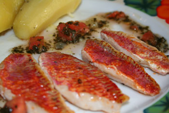 Filets de rougets sauce vierge