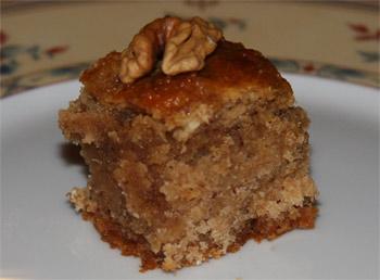 Gâteau noix, miel et cannelle