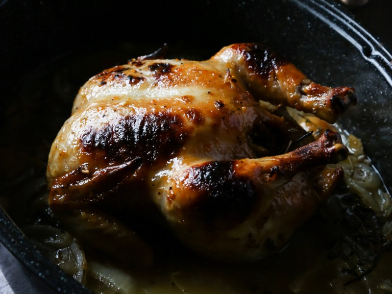 Apricot Glaze Roasted Chicken