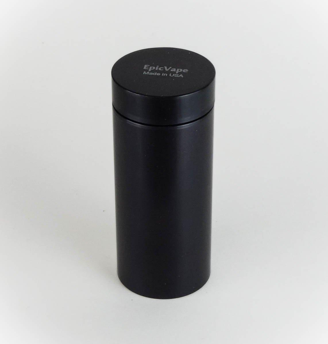 airtight black aluminum storage container