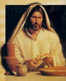 Jesus breaking bread