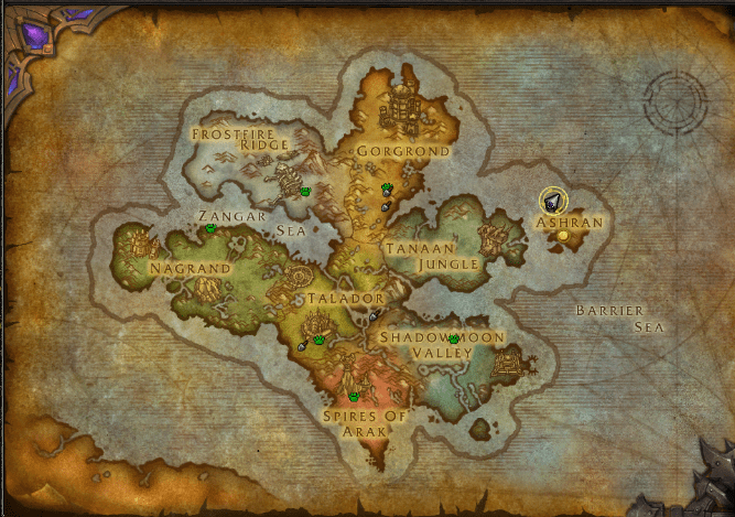 Draenor Map world of warcraft