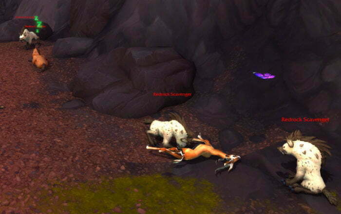 Blood-Stained Bone Farm Spot 1 - Vol'dun - Redrock scavenger howler