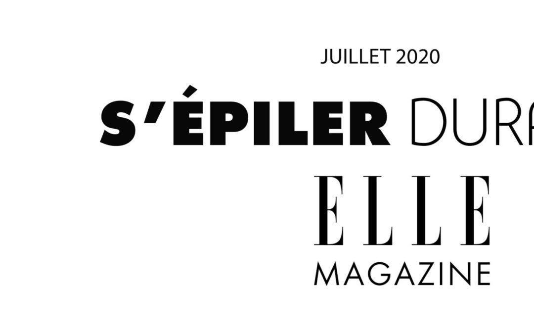 ACTUALITES / VU DANS LE MAGAZINE ELLE/ JUILLET 2020