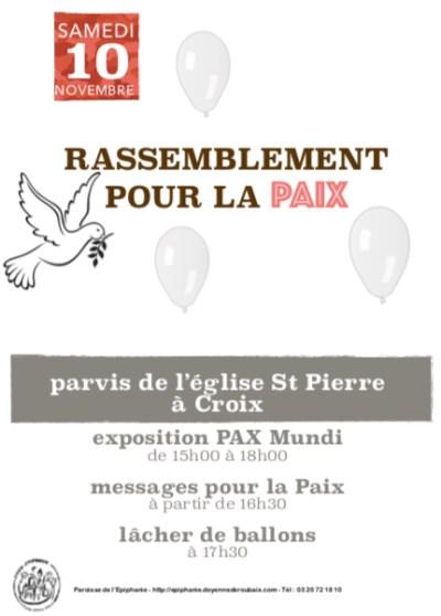 Rassemblement pour la Paix @ Saint Pierre